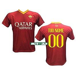 S M L XL Maglia Calcio Dzeko 9 Roma Replica Autorizzata 2018-2019 Bambino Adulto Taglie 2 4 6 8 10 12