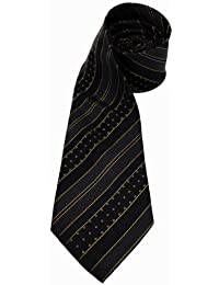 feine Mexx Krawatte Seide schwarz gold gestreift