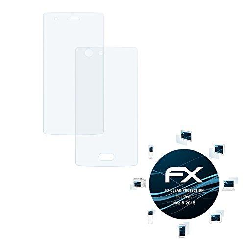 atFolix Schutzfolie kompatibel mit Oppo Neo 5 2015 Folie, ultraklare FX Bildschirmschutzfolie (3er Set)