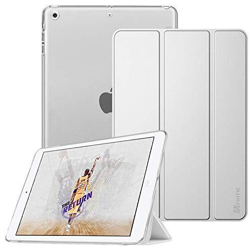 Fintie iPad Mini Hülle - Ultradünne Superleicht Schutzhülle mit transparenter Rückseite Abdeckung Cover mit Auto Schlaf/Wach Funktion für Apple iPad Mini/iPad Mini 2 / iPad Mini 3, Silber (Fintie Ipad Mini 2 Case Tastatur)