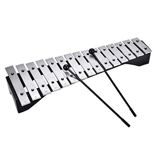 Dilwe Xilofono in Alluminio a 15 Toni Pianoforte Percussion Instrument Regalo per Bambini