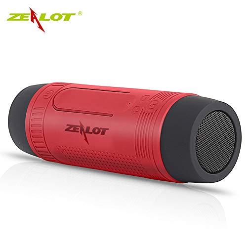 Gaddrt Zealot S1 Bluetooth Audio wasserdichter Outdoor-Taschenlampe Fahrt Lautsprecher Drahtloser Bluetooth-Kartenlautsprecher Taschenlampe Bluetooth-Lautsprecher (red) S1 Audio