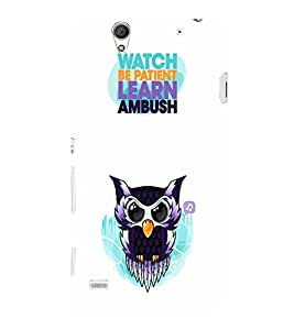 EPICCASE Watching Owl Mobile Back Case Cover For Sony Xperia C4 (Designer Case)