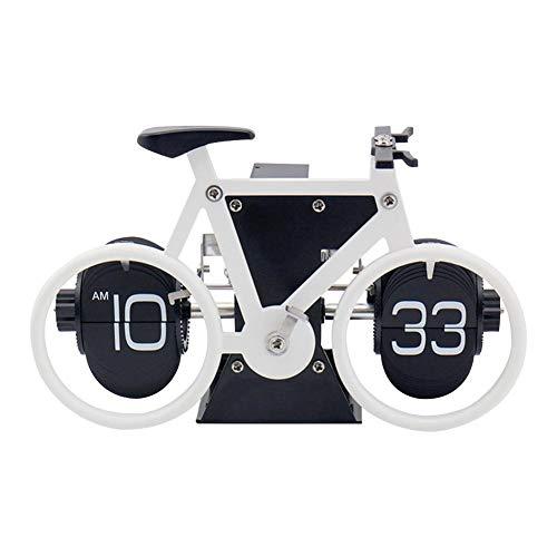 Auto Flip Down Uhr, Edelstahl Fahrrad Retro Style Multifunktions Uhr Dekoration Für Zuhause, Schreibtisch - Fashion, Silent, Noiseless