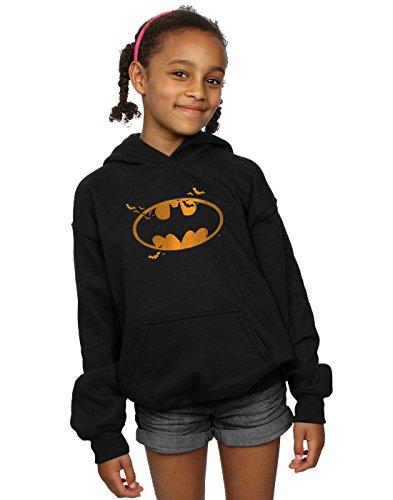 (DC Comics Mädchen Batman Halloween Logo Kapuzenpullover 12-13 years Schwarz)