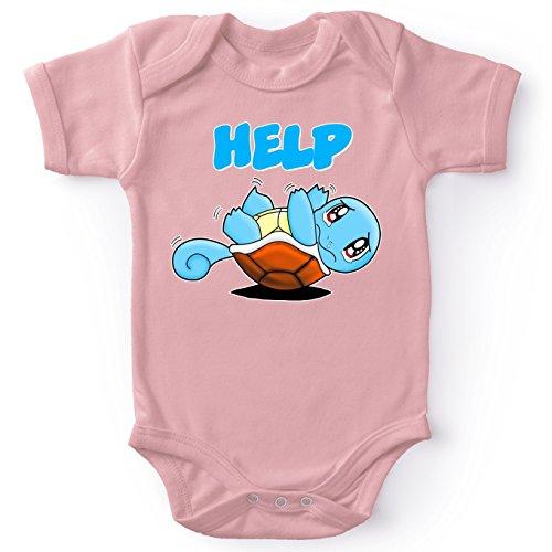tiges Pink Baby Strampler (Mädchen) - Schiggy (Pokémon Parodie) (Ref:359) ()