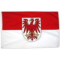 MM Brandenburg Flagge/Fahne, 150 x 90 cm, wetterfest, mehrfarbig, 16190