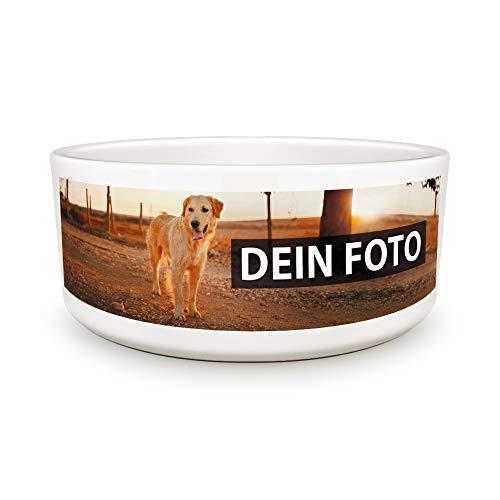 Hundenapf selbst individuell gestalten/Personalisierbar mit eigenem Foto Bedrucken/Fototasse/Motivtasse/Werbetasse/Firmentasse mit Logo/Hundenapf - 15 cm Durchmesser