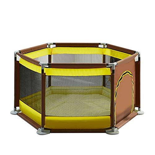 Clôture de jeu pour enfants Parc pour Enfants Parc pour Enfants Hexagonal Fence Family Fence Tapis de Jeu pour Les Enfants Rampant, Aire de Jeux pour Enfants, Cadeau de 200 balles océaniques + Coton