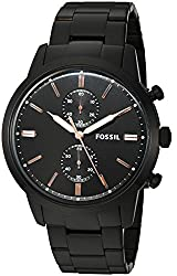 Fossil Analog Black Dial Mens Watch-FS5379