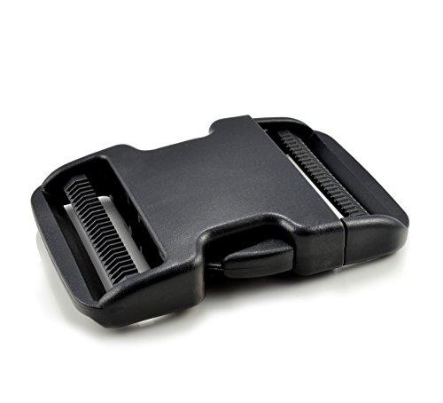 Ganzoo Klickverschluss aus Kunststoff, XXXL Klippverschluss/Steckschließer/Steckverschluss für Paracord-Armbänder, Hunde-Halsbänder, Rucksack, Farbe: schwarz
