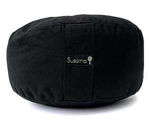 Coussin de méditation Pour Yoga Par Susama - Coton Premium, Super Confortable Et De Design rondo Européen – Améliorez l'Alignement et Confort de la colonne vertébrale! # 1 Pour La Pratique Réparatrice De Yoga