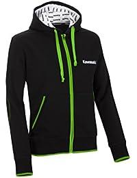Kawasaki Sports Sudadera con capucha de hombre, Negro de color verde, tamaño S – 166spm0162 Moto de jank chiste