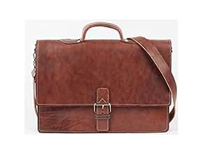 Mallette porte document serviette cartable sac college fac universite professeur bureau poignee classeur cuir vrai Vintage.