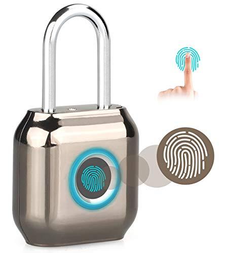 Candado de huellas dactilares inteligente con cerradura de huellas dactilares, candado de seguridad...