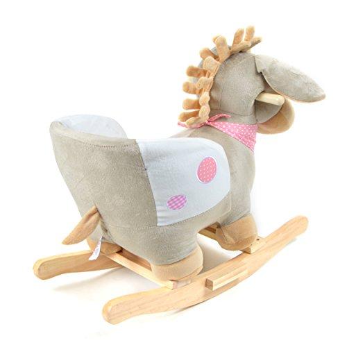 Pink Papaya Schaukeltier - Esel Pepe - Kinder und Baby Schaukelpferd, spezieller Schaukelstuhl für Kinder, mit Sound, Kopfhöhe ca. 50 cm, Sitzhöhe ca. 30 cm - 6