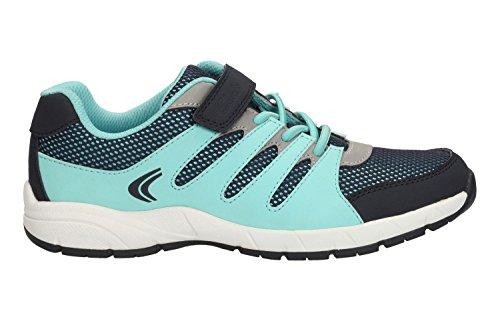 Clarks Croix Dart pour bébés filles Sport chaussure Blue Combi