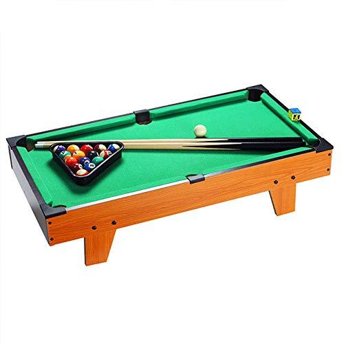 LEERAIN Mini Tisch-Pool-Billard, Kinder Hölzern Snooker-Spiel, Familie Für Kinder 2 Mini Queues, 15 Farbige Billardkugeln, 1 Weiße Queuekugel, Dreieck & Kreide69 * 36,5 * 22,5 cm (Anfänger Pool-tisch)