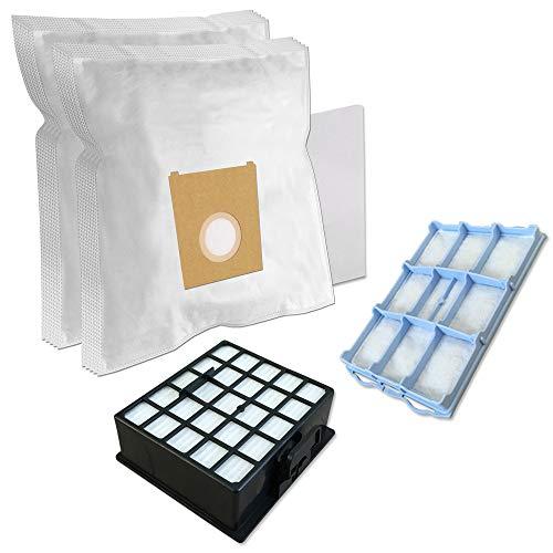 Set - filtro hepa + filtro motore + 10 sacchetti per aspirapolvere bosch bsgl 32125 gl-30 bionic filter pro animal hair