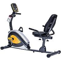 Preisvergleich für TechFit R400 Magnetisches Fitness Recumbent Fahrrad Ergometer - Cardio- Fitnessfahrrad mit einstellbarem Sattel, Puls-Sensoren und LCD Monitor. Resistenter Heimtrainer für die Perfekte Figur.