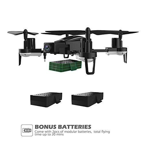 Holy Stone HS230 Drone RC FPV con 120 ° FOV 720P HD Droni Camera Live Video 45Km / h Quadcopter ad Alta velocità di Resistenza al Vento con Schermo LCD 5.8G Trasmettitore in Tempo Reale - 5