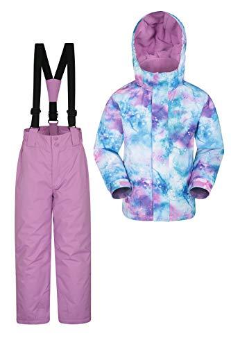 Mountain Warehouse Ensemble de Veste et Pantalon de Ski pour Enfant - Résistant à la Neige -...