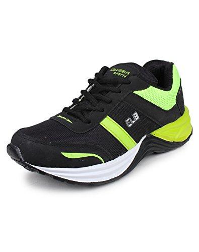 Columbus TB-18 Mesh Sports shoes for Men (7 UK, BlackGreen)