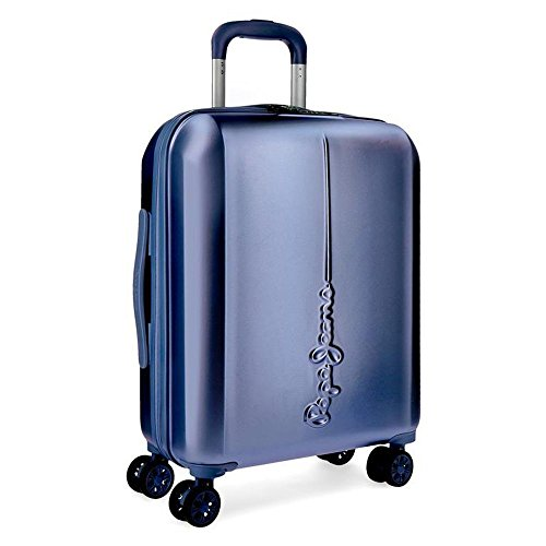 Pepe Jeans 5418763 Cambridge Equipaje de mano, 37 litros, 55 cm, Azul