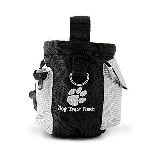 4yourpet Leckerli Beutel, Gürteltasche wasserfest mit zusätzlichen Taschen für Hundekotbeutel oder Clicker, mit Zugband, zum Trainieren, Belohnungsbehälter für unterwegs