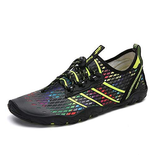 94a2e7d96 Zapatos de Agua Hombre Mujer Zapatillas para Playa Surf Natación Calzado  Piscina Secado Rápido Escarpines Verde 43