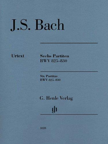 Six Partitas Bwv 825-830 par Bach Johann Sebastia