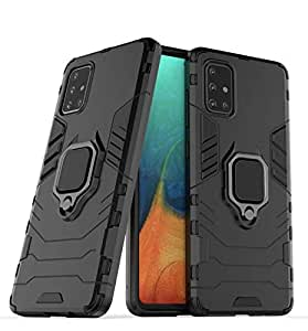 Designerz Hub® Samsung Galaxy A51 Case Back Cover Dual Layer Armor Defender Full Body Protective + PC Hybrid Kickstand Back Case Cover Designed for Samsung Galaxy A51
