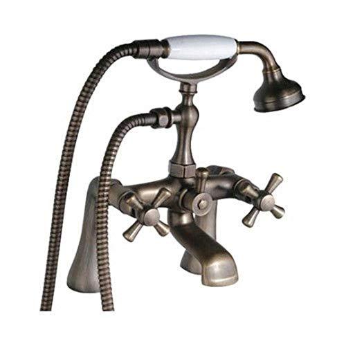 Waschtischarmatur Für Bad Antike Messing Badewanne Wasserhahn Handbrause Deck Montiert Klaue Fuß Badewanne Dusche