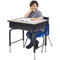 Preisvergleich für ECR4Kids 61x 45,7cm verstellbar vorne offen Student Schreibtisch mit Metall Box Buch