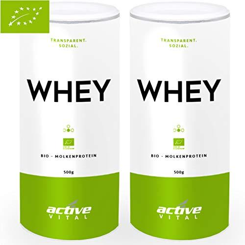 PROTEINVITAL Bio Whey-Protein-Pulver Neutral 1000g (Diät Lieferung Frische)