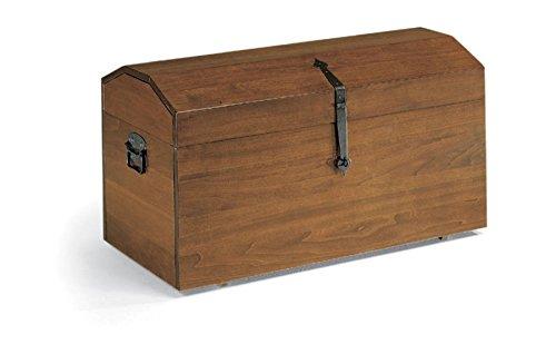 Legno&Design Portalegna Baule con Ruote Carrello Porta Legna Porta Pellet Facile da spostare