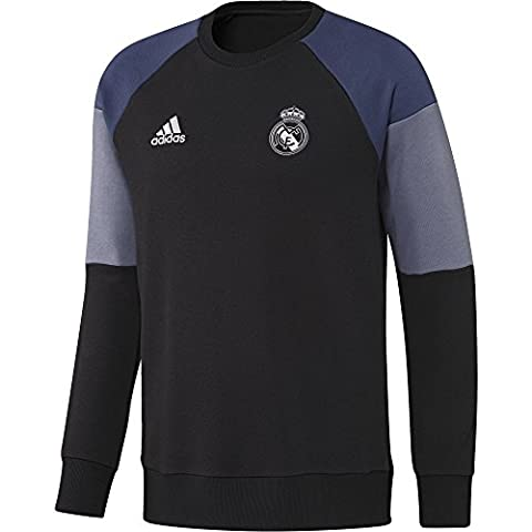 adidas REAL SWT TOP -Sweatshirt - Ligne Real Madrid CF pour Homme, Noir / Violet - S, Taille: S