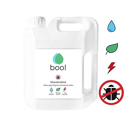 boo! Insektenspray - Insektenschutz als Spray gegen Mücken, Milben, Bettwanzen etc - Insektizid - Pflanzlicher Wirkstoff - 5 Liter -