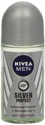 Nivea 50ml für Herren Silber Schützen Antibakterieller Schutz Anti-Transpirant Deodorant -