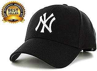BIZZARE Ny Baseball Cap for Boys, Men's, Girls (Black & White)