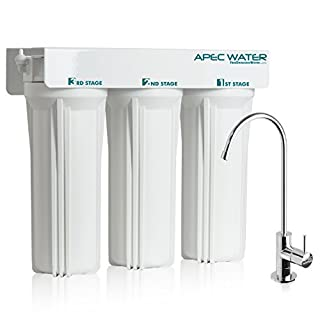 APEC Water Systems WFS-1000 Super Capacity Premium Quality 3 Stage Under Counter Water Filtration System by APEC Water Systems
