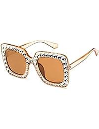 890fd4c4f54f5b Amiubo Strass Lunettes de soleil Femmes Sports Shade Eyewear Oversized  Square Crystal Sunglasses Protection des yeux