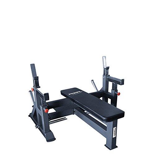 Primal Stärke Stealth kommerziellen Fitness Verstellbare Olympischen Bench mit Spotter & Plattform matt Nero
