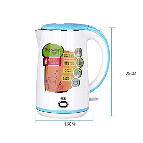 GPC Home Fast Pot 304 Stainless Steel Electric Kettle Insulation 80 &Deg; Kettle 1.7L 1800W Electric Kettles