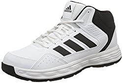 Adidas Mens Adi Rib W Cblack/Ftwwht Basketball Shoes - 11 UK/India (46 EU)