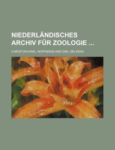 Niederlndisches Archiv Fr Zoologie