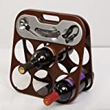 #6: Foldable Wine bottle rack with accessory Set