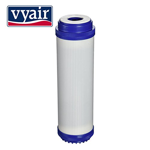 1 x VYAIR 10' GAC-10, C1, NP1, NCP1, NDL2 (Granular Activated Carbon) Water Filter Cartridge for Whole House, Commercial, Industrial, Reverse Osmosis Purification Systems