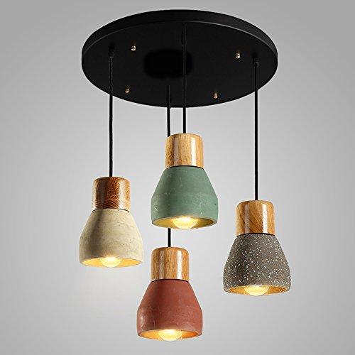 Luckyfree Kreative Modern Fashion Anhänger Leuchten Deckenleuchte Kronleuchter Schlafzimmer Wohnzimmer Küche, 4 + Festplatte mit Glühlampe