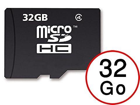 Carte Mémoire Micro-SD 32 Go + Adaptateur pour SFR Startrail 8